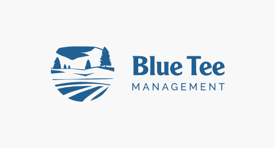 Blue Tee Management Logo Design